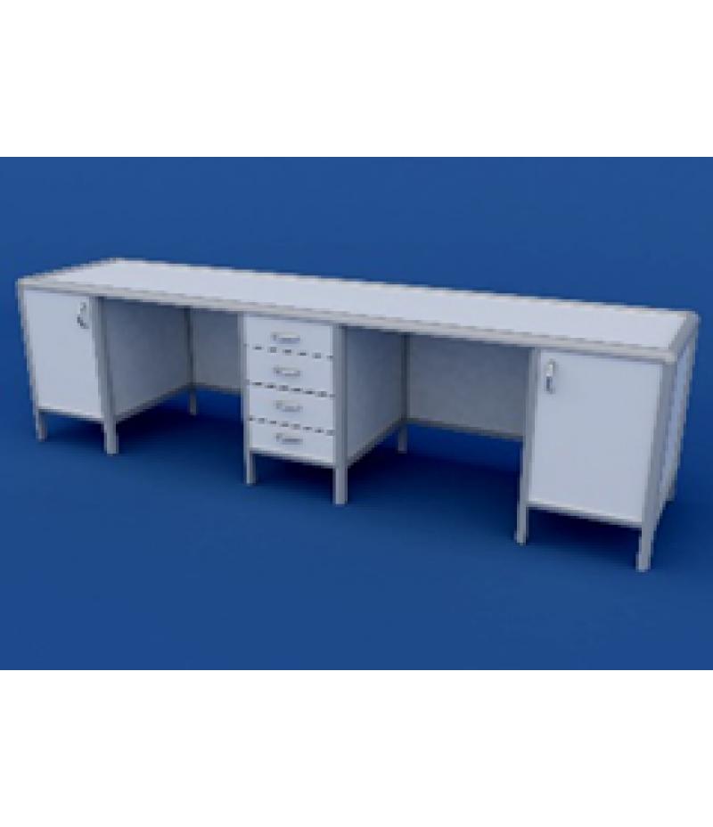 Стол для медлабораторий АСЛ-0.14-ВТМ  2700х600х750