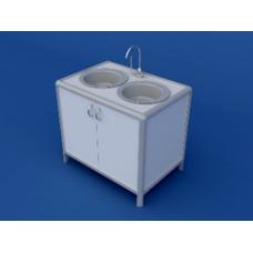 Стол под мойку АСМ-0.3-ВТМ  935х620х850