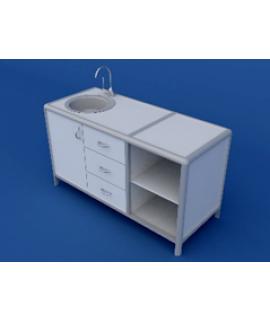 Стол под мойку АСМ-0.6-ВТМ  1500х600х850