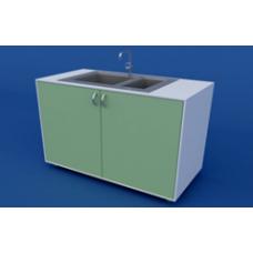 Стол-мойка лабораторная двойная ЛСМ-0.05-ВТМ
