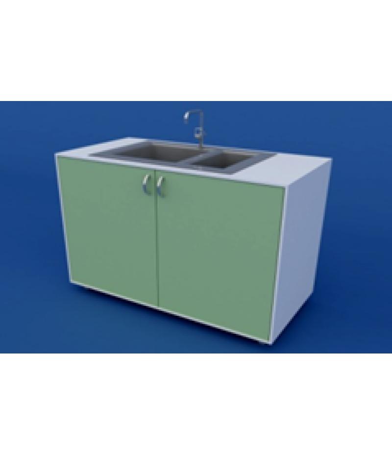 Стол-мойка лабораторная двойная ЛСМ-0.05-ВТМ  1200х600х900