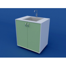 Стол-мойка лабораторная химическая ЛСМХ-0.02-ВТМ  800х600х900