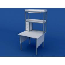 Стол лабораторный пристенный физический высокий ЛСФ-0.05-ВТМ  1200х850х900/1500