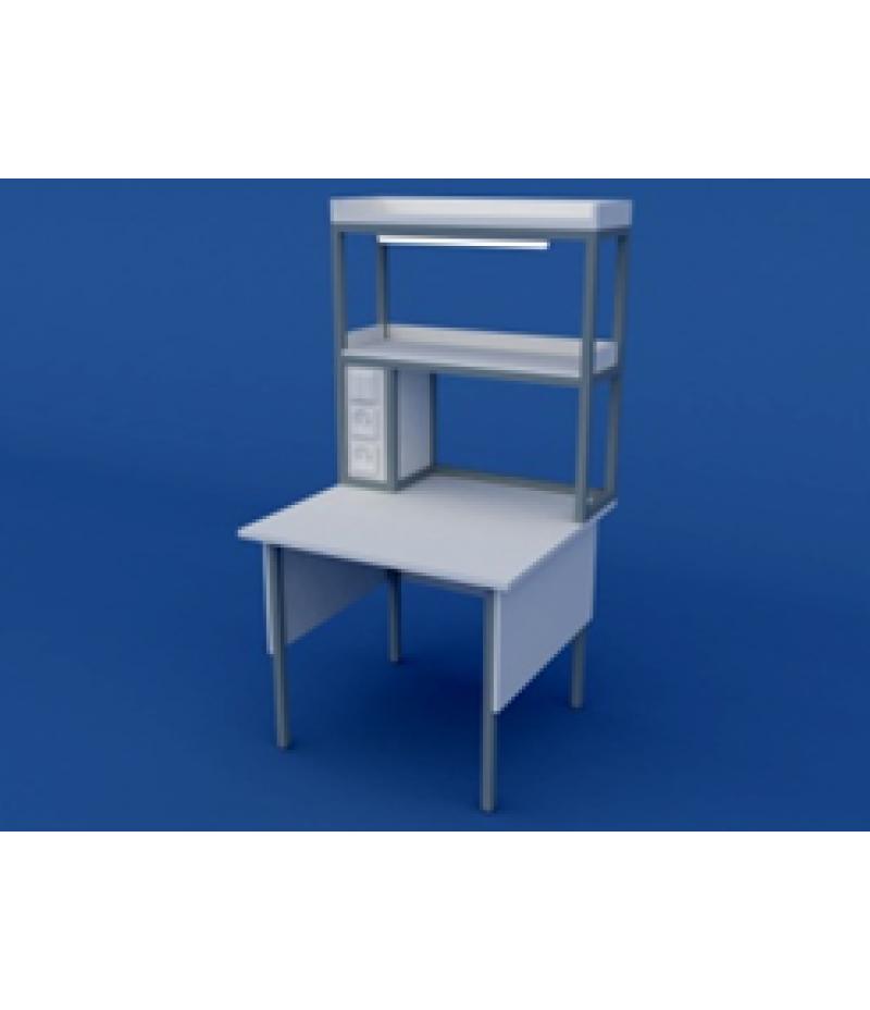 Стол лабораторный пристенный физический низкий  ЛСФ-0.02-ВТМ  1200х850х750/1350