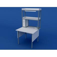 Стол лабораторный пристенный химический высокий ЛСХ-0.04-ВТМ  900х850х900/1500