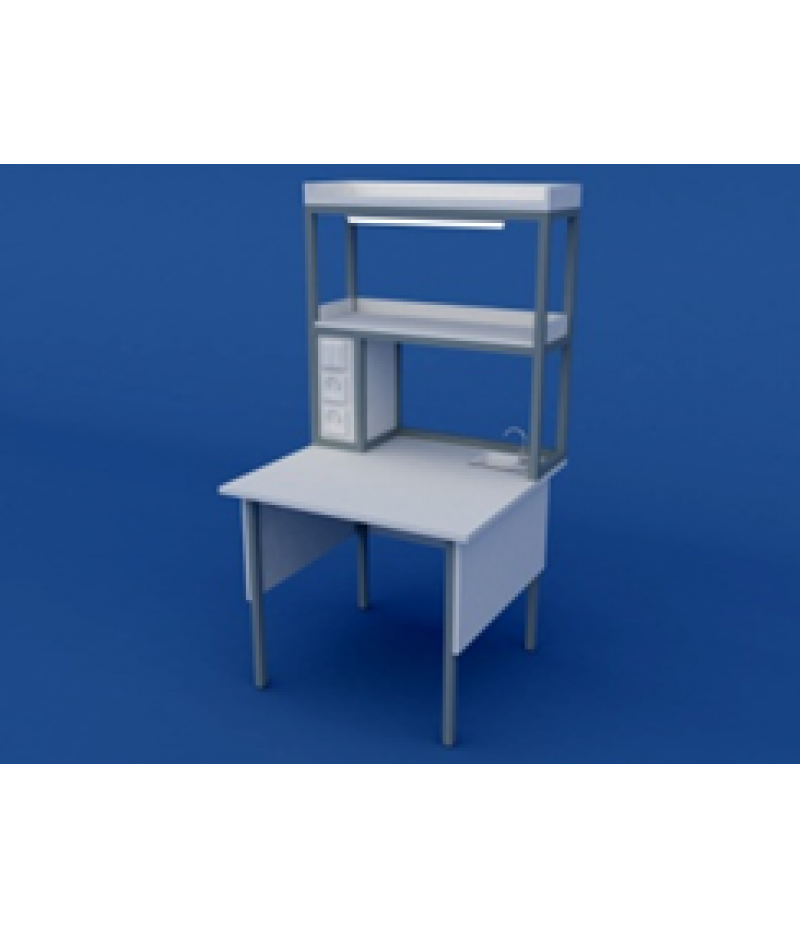 Стол лабораторный пристенный химический низкий  ЛСХ-0.01-ВТМ  900х850х750/1350