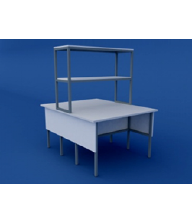 Стол лабораторный физический  островной низкий ЛСФО-0.02-ВТМ  1500х1500х750/1350