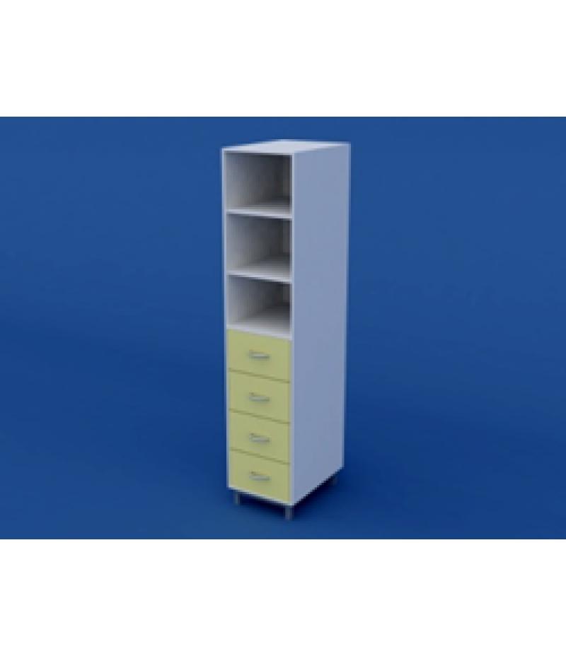 Шкаф лабораторный для химпосуды ЛШП-0.05-ВТМ  400х550х1800