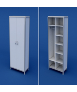 Шкаф для белья и одежды АШР-2.02-ВТМ  800х400х1800