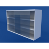 Шкаф навесной, раздвижные стеклянные двери ЛШП-0.13-ВТМ