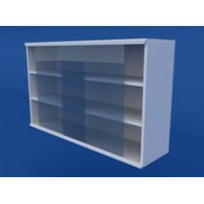Шкаф навесной, раздвижные стеклянные двери ЛШП-0.13-ВТМ   1200х300х700