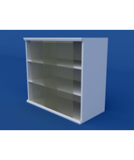 Полка настенная с раздвижными дверками (пластик) ЛШП-0.16-ВТМ 800х300х700