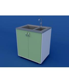 Стол-мойка лабораторная одинарная ЛСМ-0.02-ВТМ   800х600х900