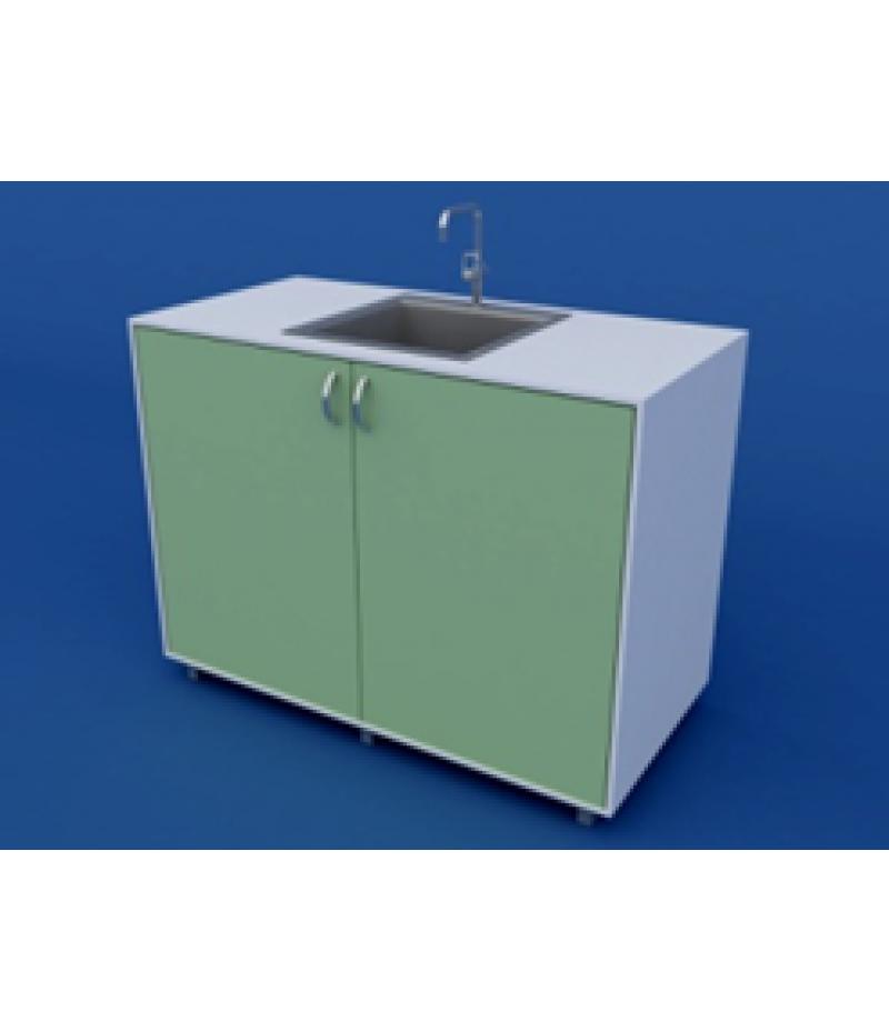Стол-мойка лабораторная одинарная ЛСМ-0.03-ВТМ  1200х600х900