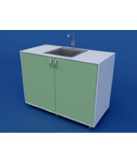 Стол-мойка лабораторная двойная ЛСМ-0.04-ВТМ  900х600х900