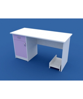 Стол для кабинета врача однотумбовый  МС-1.06-ВТМ  1400х600х750
