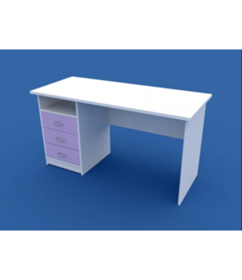 Стол для кабинета врача однотумбовый  МС-1.07-ВТМ  1400х600х750