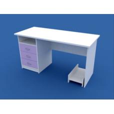 Стол для кабинета врача однотумбовый  МС-1.09-ВТМ  1400х600х750