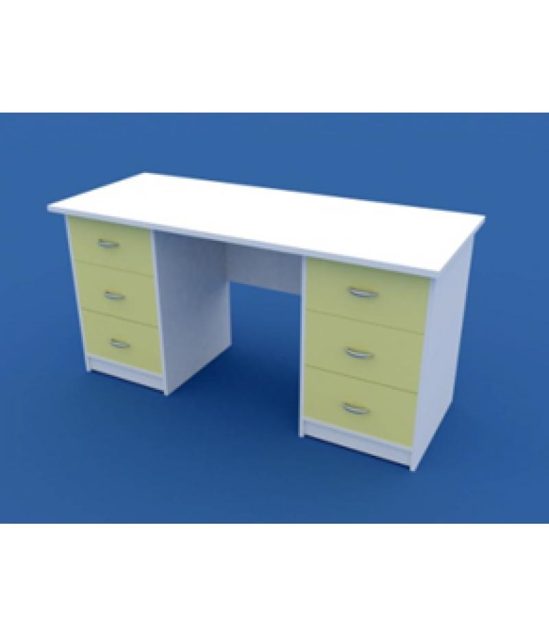 Стол для кабинета врача двухтумбовый МС-2.02-ВТМ 1500х600х750