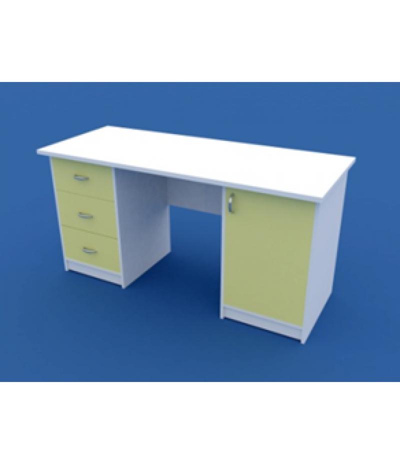 Стол для кабинета врача двухтумбовый МС-2.03-ВТМ 1500х600х750