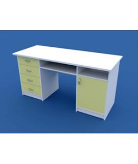 Стол для кабинета врача двухтумбовый МС-2.05-ВТМ  1500х600х750