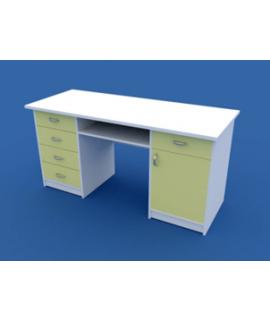 Стол для кабинета врача двухтумбовый МС-2.06-ВТМ   1500х600х750