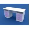 Стол для кабинета врача двухтумбовый МС-2.08-ВТМ