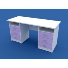 Стол для кабинета врача двухтумбовый МС-2.08-ВТМ  1500х600х750