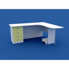 Стол врача эргономичный на одно рабочее место МС-3.03-ВТМ  1400х1700х750