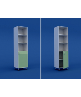 Шкаф для кабинета врача одностворчатый  МШ-1.03-ВТМ  500х400х1800