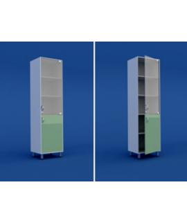 Шкаф медицинский одностворчатый для медикаментов МШ-1.07-ВТМ  500х400х1800