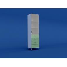 Шкаф медицинский одностворчатый для медикаментов МШ-1.08-ВТМ