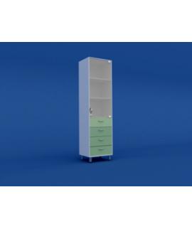 Шкаф медицинский одностворчатый для медикаментов МШ-1.08-ВТМ  500х550х1800