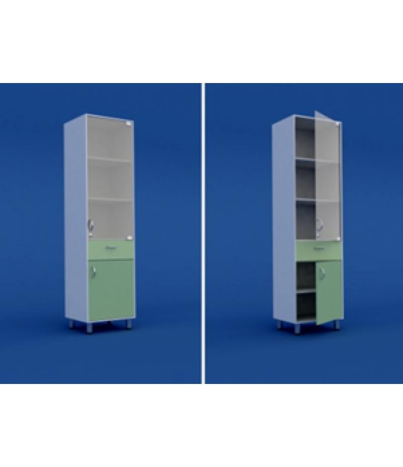 Шкаф медицинский одностворчатый  МШ-1.09-ВТМ  500х400х1800
