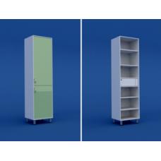 Шкаф для старшей медсестры с трейзером одностворчатый МШ-1.12-ВТМ