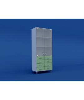 Шкаф медицинский двухстворчатый для медикаментов  МШ-2.04-ВТМ  800х400х1800