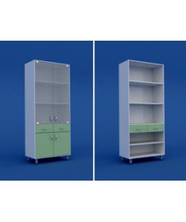 Шкаф медицинский двухстворчатый  МШ-2.05-ВТМ  800х400х1800