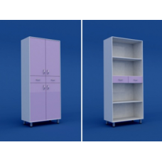 Шкаф медицинский двухстворчатый  МШ-2.06-ВТМ  800х400х1800