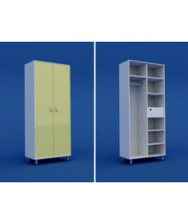 Шкаф для старшей медсестры с трейзером двухстворчатый  МШ-2.11-ВТМ  800х550х1800