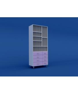 Шкаф для хранения рентгеновских снимков МШ-3.04-ВТМ   800х400х1900