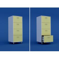 Шкаф картотечный (4 выдвижных ящика) МШ-3.08-ВТМ   600х550х1400