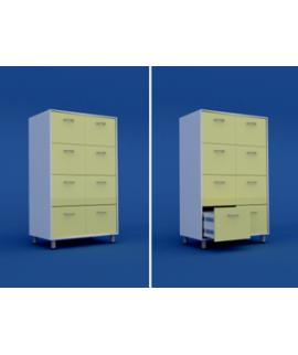 Шкаф картотечный ( 8 выдвижных ящиков) МШ-3.09-ВТМ   900х550х1400