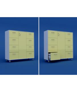 Шкаф для хранения продуктов закрытый с ящиками МШ-3.10-ВТМ  1300х400х1400