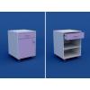 Тумба медицинская подкатная под рабочий  стол с 1 ящиком и дверкой МТ-1.03-ВТМ
