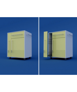 Тумба прикроватная с полотенцедержателем и бутылочницей (1 ящик и дверка) МТП-1.07-ВТМ  570х470х890