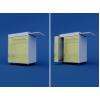 Тумба прикроватная с полотенцедержателем,металлической бутылочницей и выдвижным столиком (1 ящик и 1 дверка) МТП-1.09-ВТМ