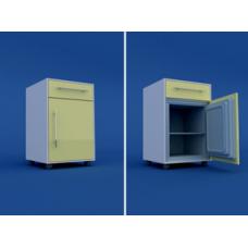 Тумба прикроватная с мини-холодильником (1 ящик) МТП-1.11-ВТМ  530х520х890