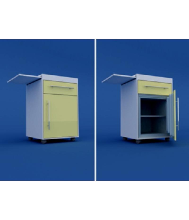 Тумба прикроватная с мини-холодильником и выдвижнымстоликом (1 ящик) МТП-1.12-ВТМ   530х520х890