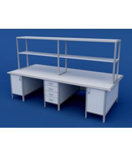 Стол для медлабораторий (для химических исследований) островной АСЛ-0.16-ВТМ  2700х1200х1500