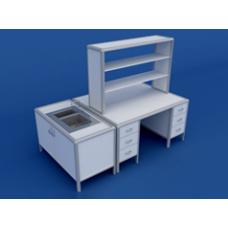 Стол для медлабораторий (для физических исследований) островной АСЛ-0.17-ВТМ